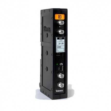 Amplificador mono canal, 58dB, 125dBuV, 24V. Canal 36