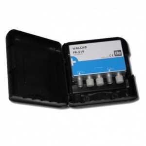 Filtro de rechazo (LTE 791-862 MHz), (GSM+ TETRA 870-960MHz). Paso 0-774 MHz, (C21-C58), 60dB, perdidas de insercción 1dB, para