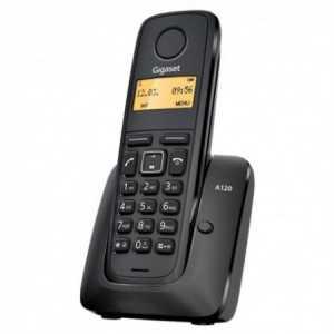 Teléfono analógico inalámbrico con identificación de llamada, ECO mode plus, Números marcados, rellamada últimos 10 números mar