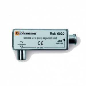 Filtro de Rechazo. Paso 5-774 MHz (C21-58), 20dB, perdidas de inserción 1dB, Interior Conectores TV.