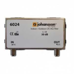 Filtro de Rechazo. Paso 470-782 MHz (C21-C59), 50dB, perdidas de inserción 1dB, Exterior Conectores F.