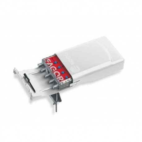 Amplificador de mástil 3 Entradas. FM/ DAB/ UHF,15/15/25dB,108dBuV, Paso DC conmutable