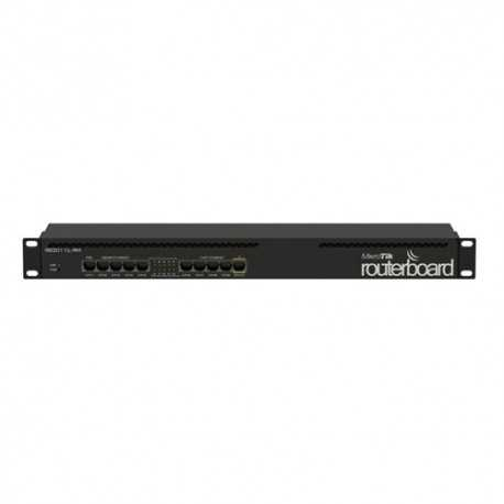 Routerboard 1 Core a 1066Mhz y 64MB RAM, con x5 Gb y x5 10/100. Level 4. RACK