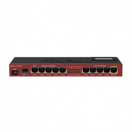 Routerboard SIN WIFI, 600Mhz, 128MB RAM, x5 Gb, x5 10/100 y x1 SFP. Level 5