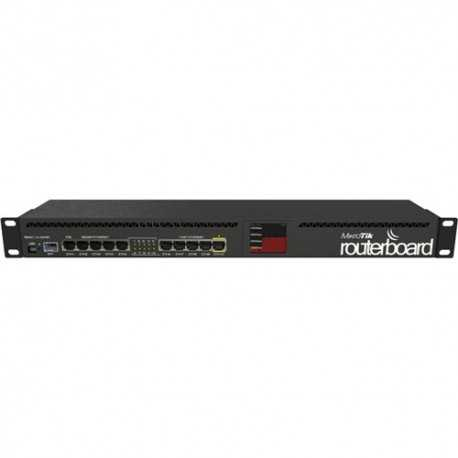 Routerboard 1 Core a 600Mhz, 128MB RAM, x5 puertos Gb, x5 10/100 y x1SFP. Level 5 para RACK