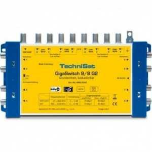 Multiswitch 9x16. Ganancia FI entre -2/+3 dB. Salida máxima 70 a 85 dBuV. Ganancia terrestre -3 / -1 dB, salida de 70 a 80 dBu
