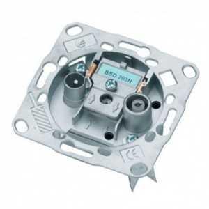 Toma FINAL individual TV-FM/ SAT, SIN paso de corriente. Pérdidas de inserción 1 dB. 5-2300Mhz