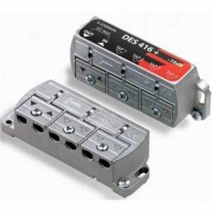 Distribuidor de 4 salidas, FI, formato puente brida, bajas perdidas, -8,5dB. Fagor