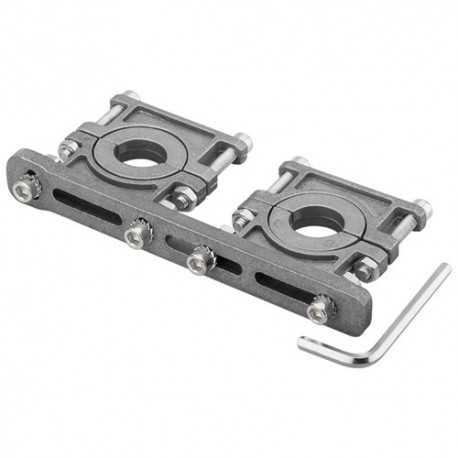 Soporte para 2 LNBs en aluminio, ajustable 3 -6.2º