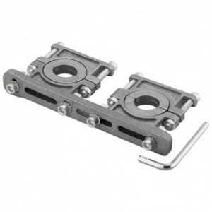 Soporte para 2 LNBs, en aluminio. ajustable 3 -6.2º