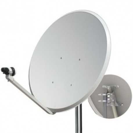 Antena parabólica de 86x80cm, 39,5dB, acero galvanizado. Pack de 2 unidades
