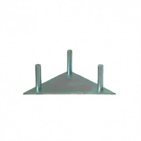 Base fija sin garras para torre de 180mm,placa de 230x4mm, enlace enroscado W 3/8