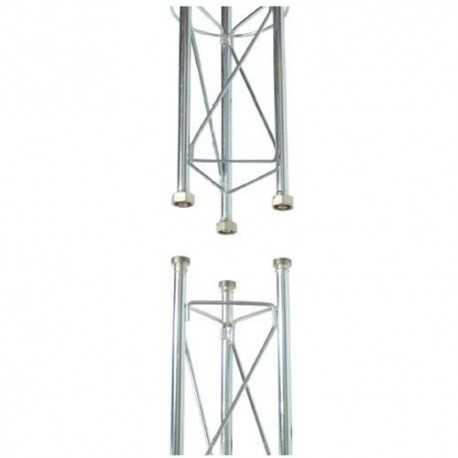 """Torreta tramo intermedio 2.5m reforzada. Medida externa 180mm. Fijación enlace roscado W 7/8"""""""