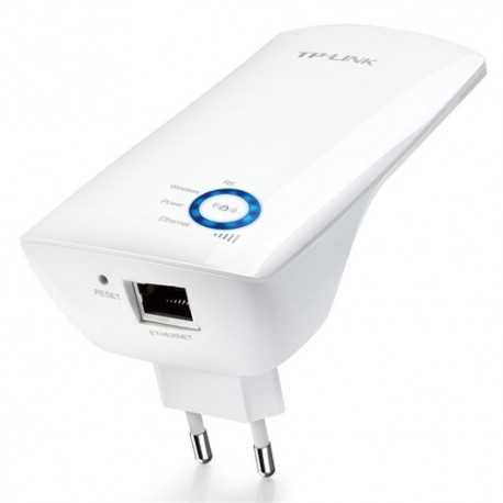 Repetidor WIFI 300mbps a través de la red eléctrica, 2.4Ghz, 20dBm (100mW), x1 interna, x1 10/100