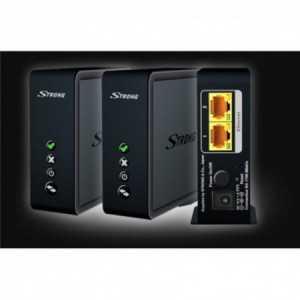 Kit de conexión WIFI (2 equipos), 2 puertos Gigabite, 5Ghz (4x4), velocidad de 1700mbps. Strong KIT1700DUO