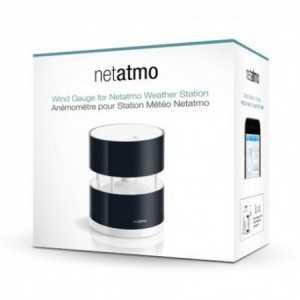 Módulo Anemómetro de exterior para estaciones Netatmo que mide la fuerza y dirección del viento. Cubierta de plástico resistent