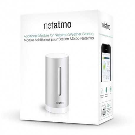 Módulo adicional de interior para estaciones Netatmo que mide temperatura, humedad, presión, CO2 y el sonido (dB).