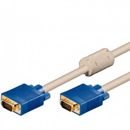 Conexión de 1,8 mts SVGA 15 pin HD macho a SVGA 15 pin HD.