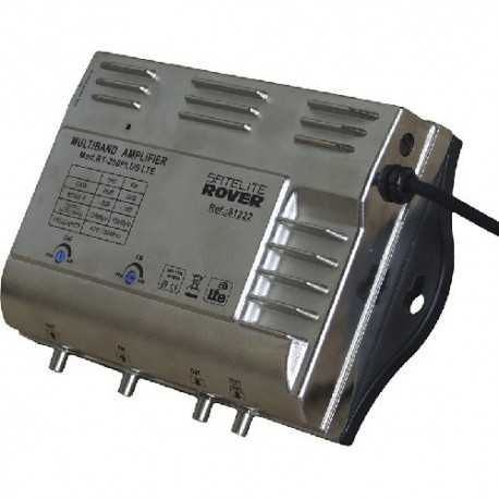 Amplificador,1 entrada terrestre VHF+UHF, 45dB, regularización 0-20 dB. salida 117 dBuV. LTE Incorporado con conmutador.