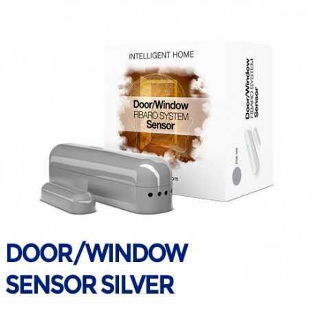 Fibaro Door/Sensor - Sensor apertura puertas/ventanas color plata. FGK-102