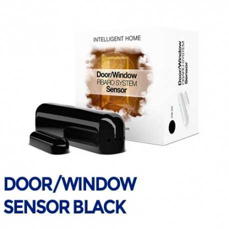 Fibaro Door/Sensor - Sensor apertura puertas/ventanas negro. FGK-103