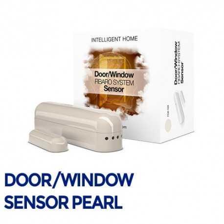 Fibaro Door/Sensor - Sensor apertura puertas/ventanas color perla. FGK-104