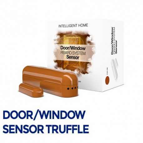 Fibaro Door/Sensor - Sensor apertura puertas/ventanas color trufa. FGK-106