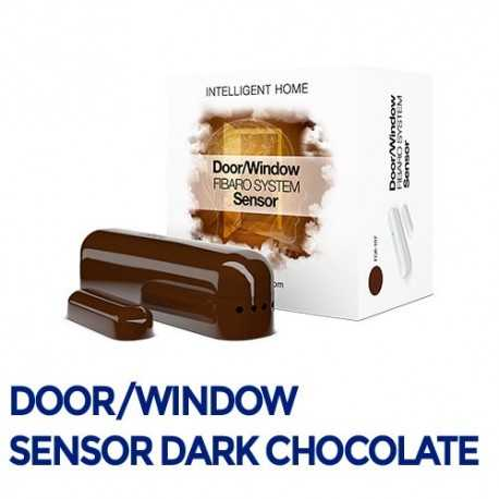 Fibaro Door/Sensor - Sensor apertura puertas/ventanas color chocolate. FGK-107