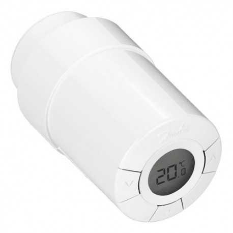 Termostato Zwave con control PID para válvula termostática de radiador. Incluye adaptador para la mayor parte de fabricantes de