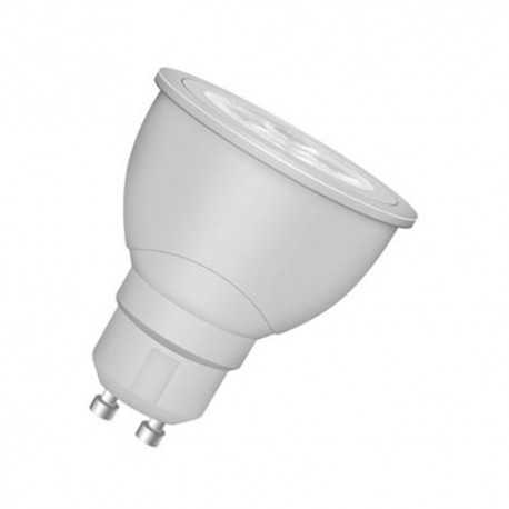 Lámpara Led Profesional, para tensión en línea. Casquillo GU10, 5,5/50W, 4000K, 36º, 220-240V Regulable. Osram