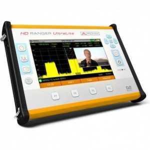 Medidor de campo compacto formato tablet. DVB-S/S2, DVB-T/T2, DVB-C/C2.