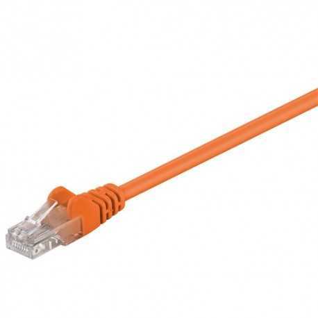 Latiguillo Cat 5e UTP 0,25mts. Naranja
