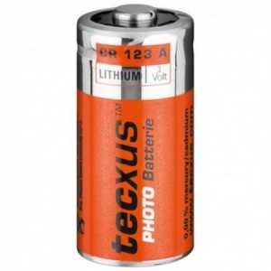 23604. Paquete de 1 pila 3v, 2/3A (CR123A), CR17345 para cámaras de fotos, de LITIO con un 60% de vida más que una pila alcalin