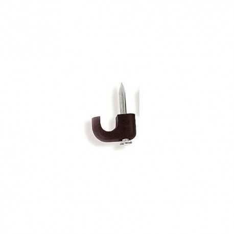 Grapa abierta de 6mm, color negro. Caja de 100 Unidades