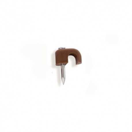 Grapa abierta de 6mm, color marrón. Caja de 100 Unidades
