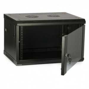 """Rack de pared 19"""", 6U. F 450 / AN 600 / AL 391mm + Accesorios"""