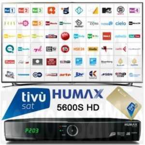 Receptor TV satlélite HD para Tivu Sat. HUMAX HD 5600S