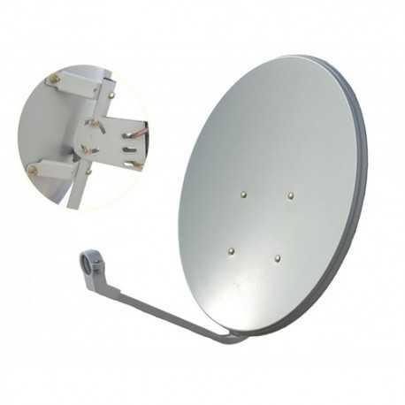 04-AMP82. Antena de 81,3 x 75cms. 38,52dB. Acero, base fija. En embalaje de 10 piezas. AMP.