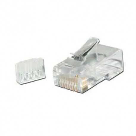 50CUFR6. Conector RJ45 para cable de datos Categoría 6E UTP rígido y flexible. Con GUIA. GTLAN