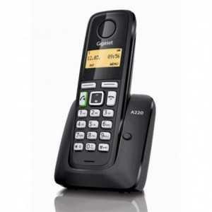 GIGASET A220. Teléfono ECO DECT. Inalámbrico, 18 horas de conversación, Rango 50m/300mts