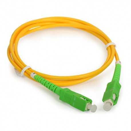 Latiguillo de fibra óptica 2mts, SC/APC - SC/APC 3mm, monomodo 9/125.
