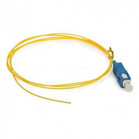 Pigtail de fibra óptica 2mts SC/UPC G657A. 900um, monomodo 9/125. 361865