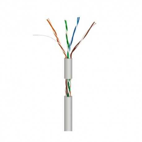 Cable UTP Cat5e de interior, 100MHz, rígido, con carrete interno, caja 305 metros. Conductores: 2x4 pares 0,51mm