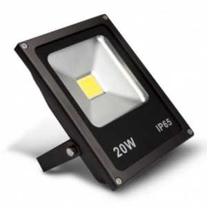 Foco Proyector LED de exterior IP65, 50W, 4000K Fría, 100º, AC 220-240V. MegaLed