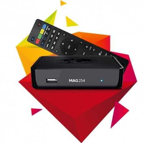 MAG 254 es la solución óptima para IPTV/OTT-proyectos. El decodificador se utiliza para implementar proyectos empresariales de
