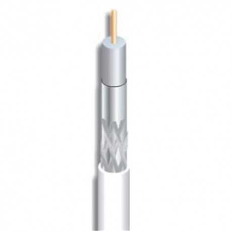 Cable coaxial 29,8dB a 2150Mhz. 7mm. Malla y lámina de alumino. PVC