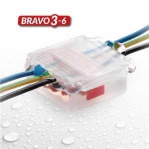 Caja con gel para crear estanquiedad, IP68,53x49x22mm. Con micro conector incluído.