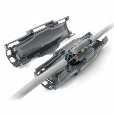 Torpedo gel reticulado IP68 para estanquidad, 180x60x60mm