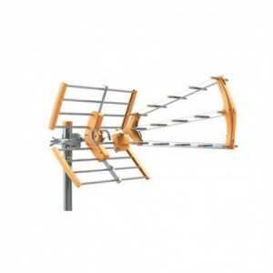 Antena UHF triple, 16 elementos, G15Dbi. D/A 24dB, color naranja