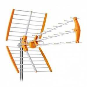 Antena UHF pasiva. 18dB. C60. D/A 27dB. Triple. Color naranja